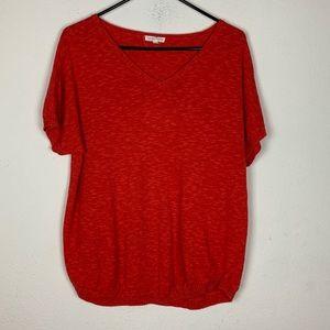 Eileen Fisher- Orange Short Sleeve Shirt size L